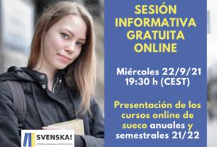 Sesión informativa cursos online sueco